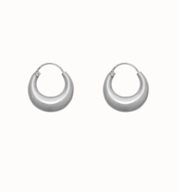 Flawed Chunky hoops silver