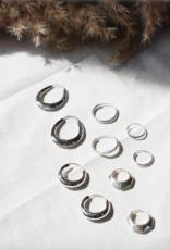 Flawed Oval hoops silver