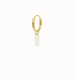 Flawed Ivory Drop Hoop gold