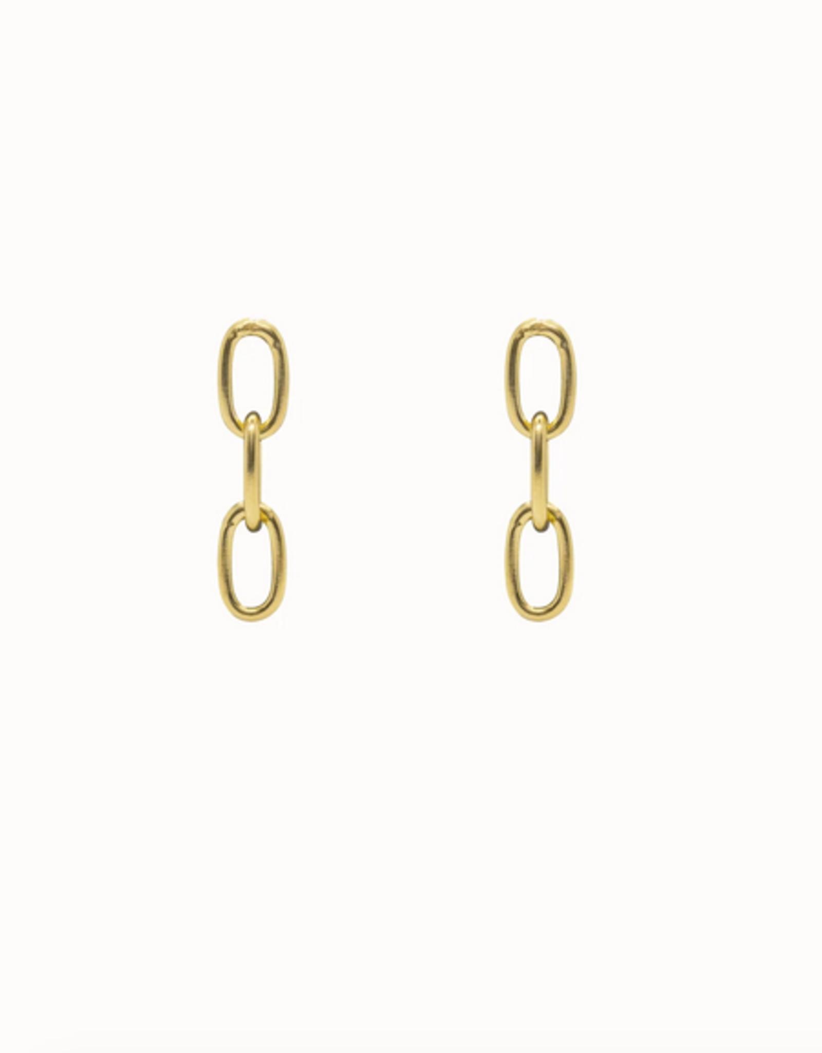 Flawed Medium Chain Studs Gold