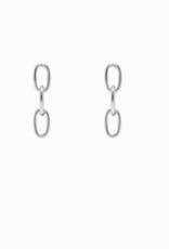 Flawed Medium Chain Studs Silver