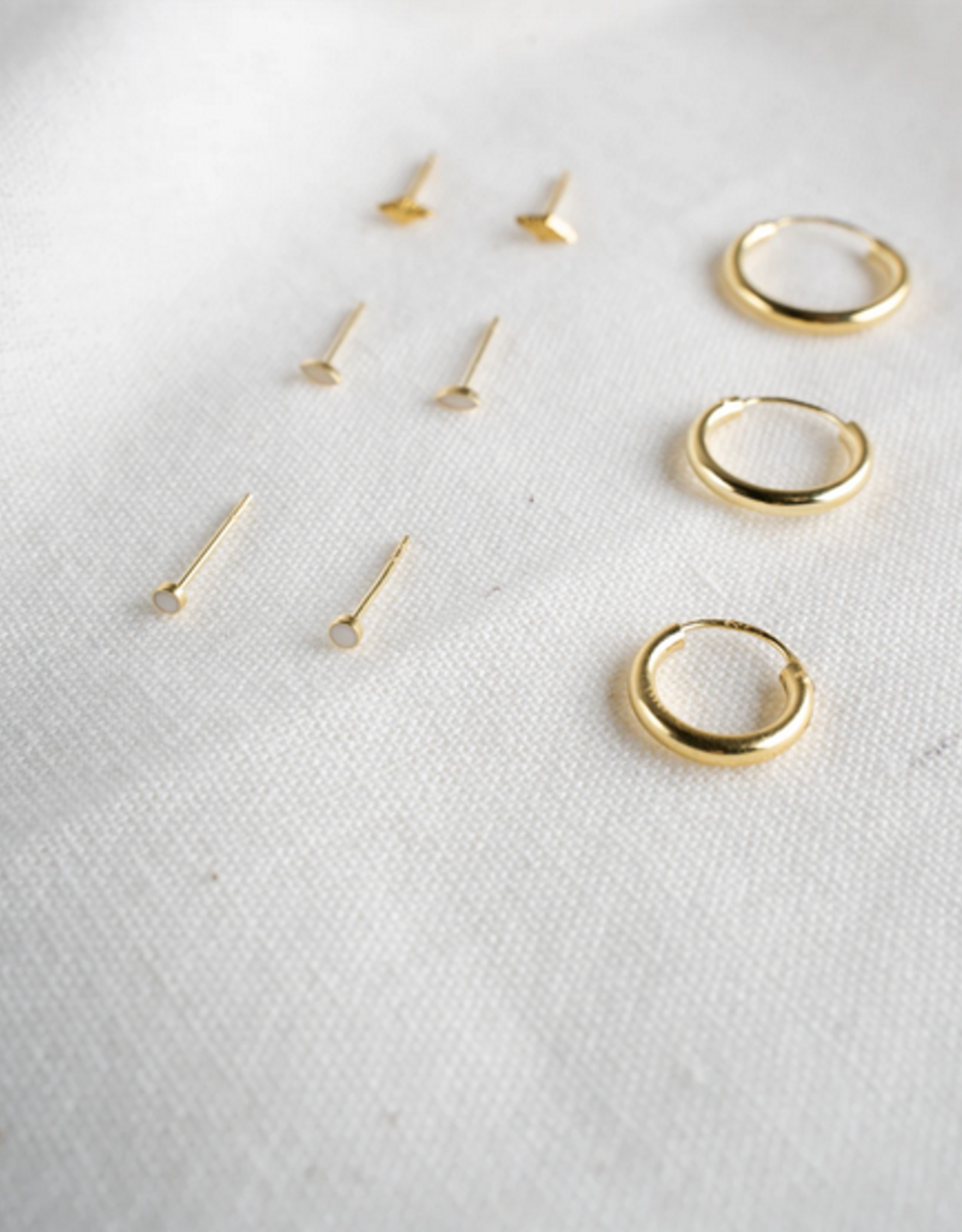 Flawed Ivory Studs Silver