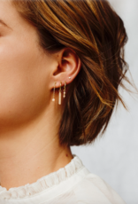 Flawed Ivory Studs Gold