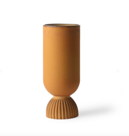 HK Living Flower vase ribbed rustic