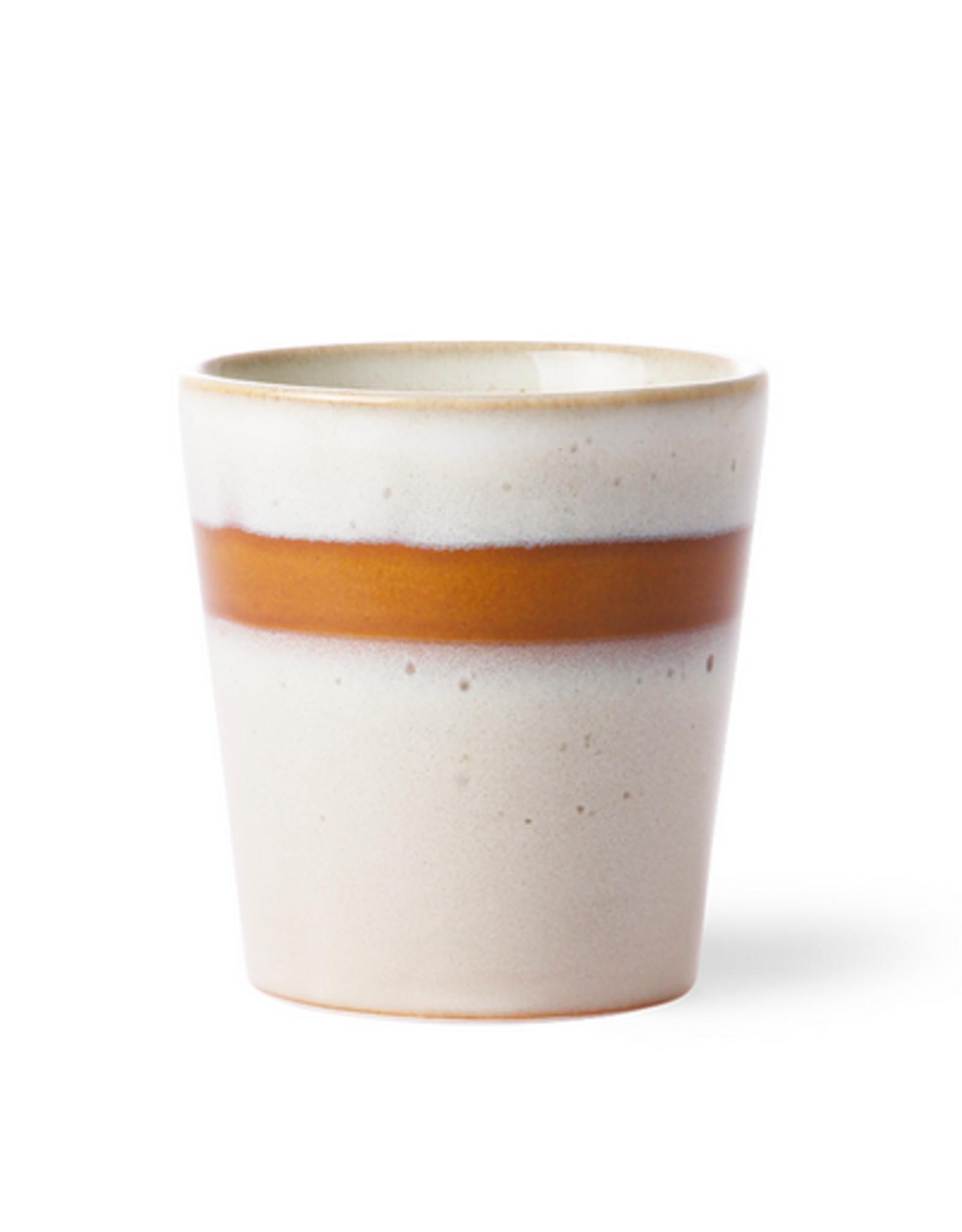HK Living Ceramic 70's mug snow