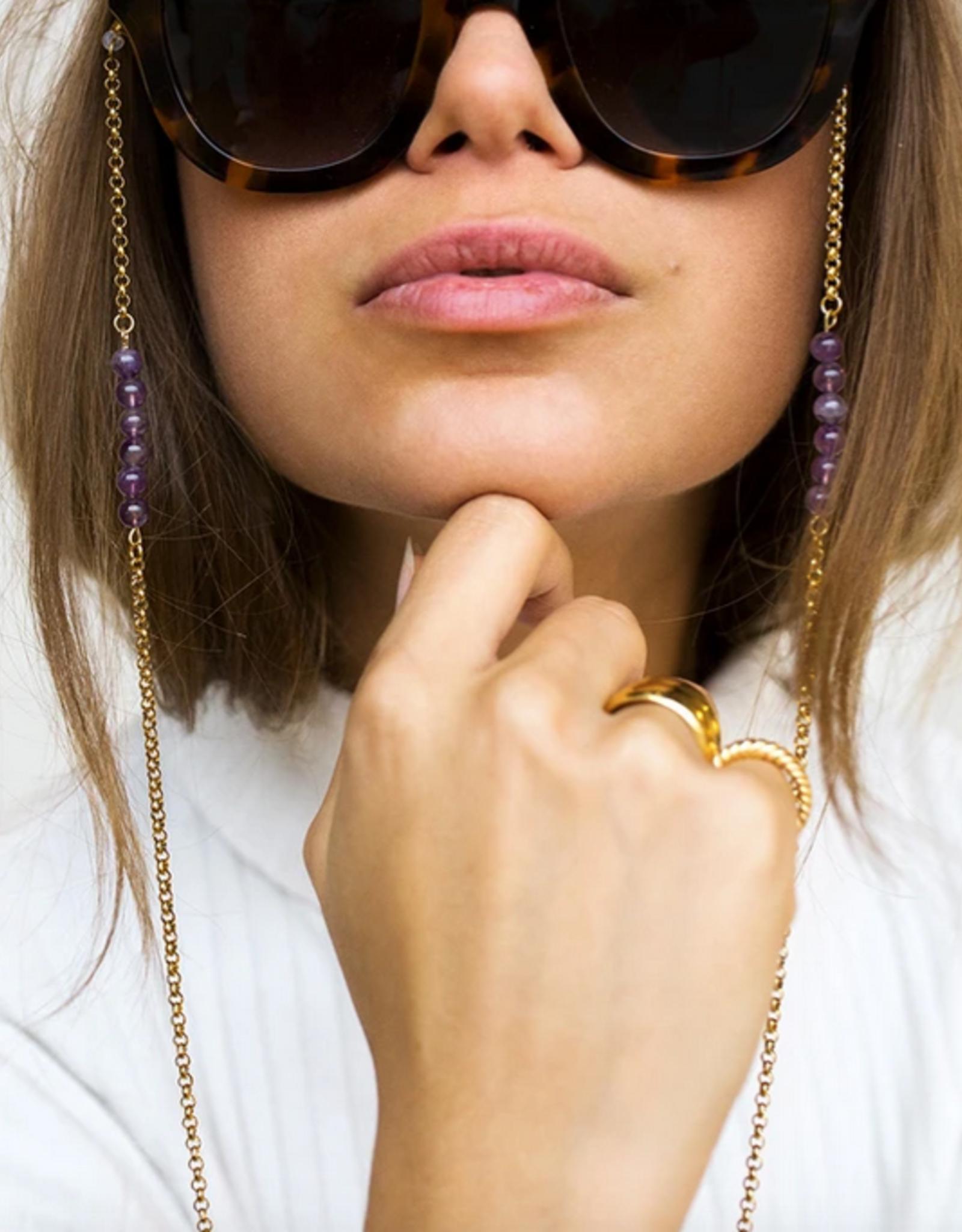 Coco Bonito Purple gemstones round chain sunnycord