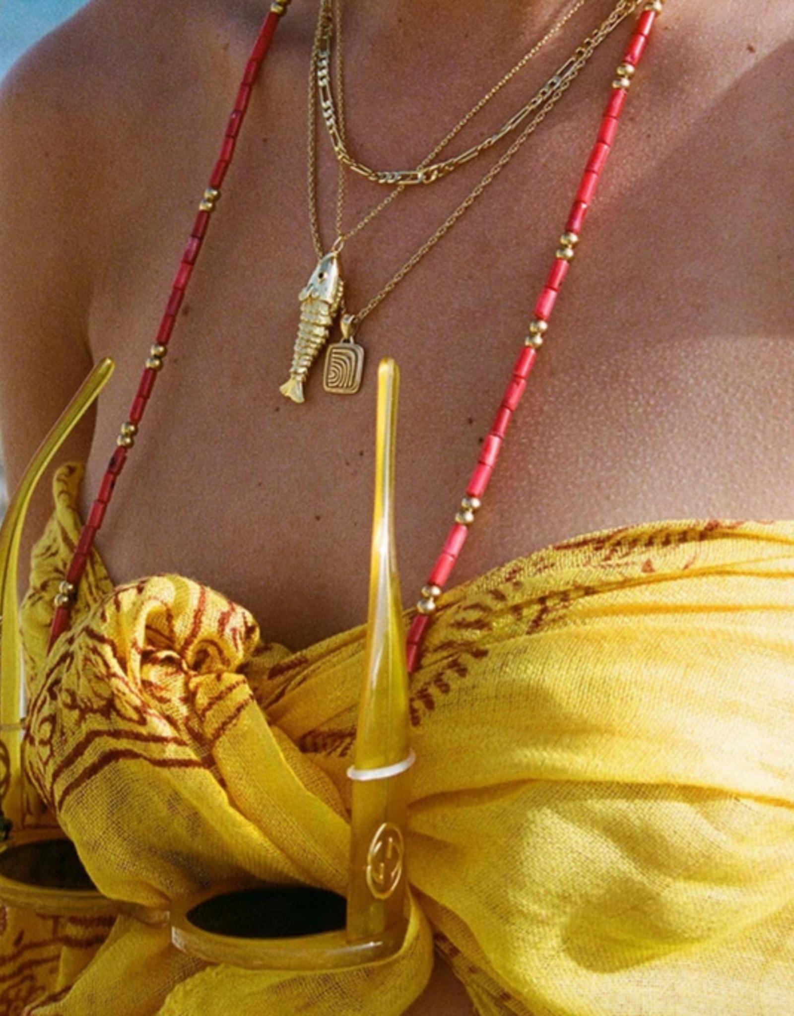 Coco Bonito Red coral bead sunnycord