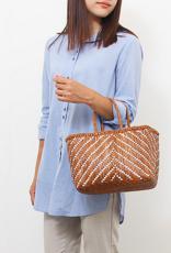 Dragon Diffusion New kumari basket small (british tan & white) bag