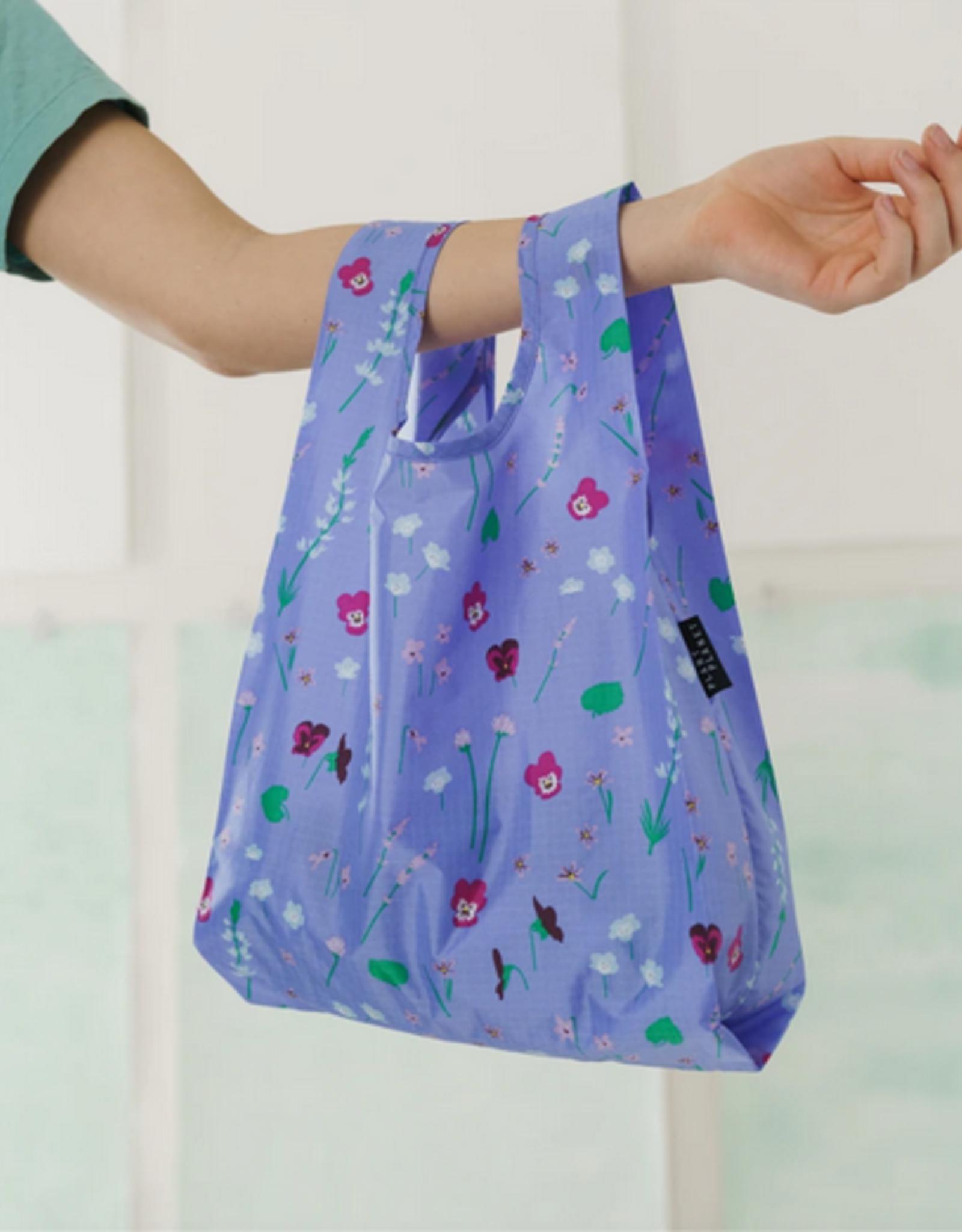 Baggu Reusable bag baby blue wildflowers