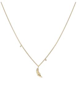 Anna + Nina Anna + Nina Moonlight necklace gold