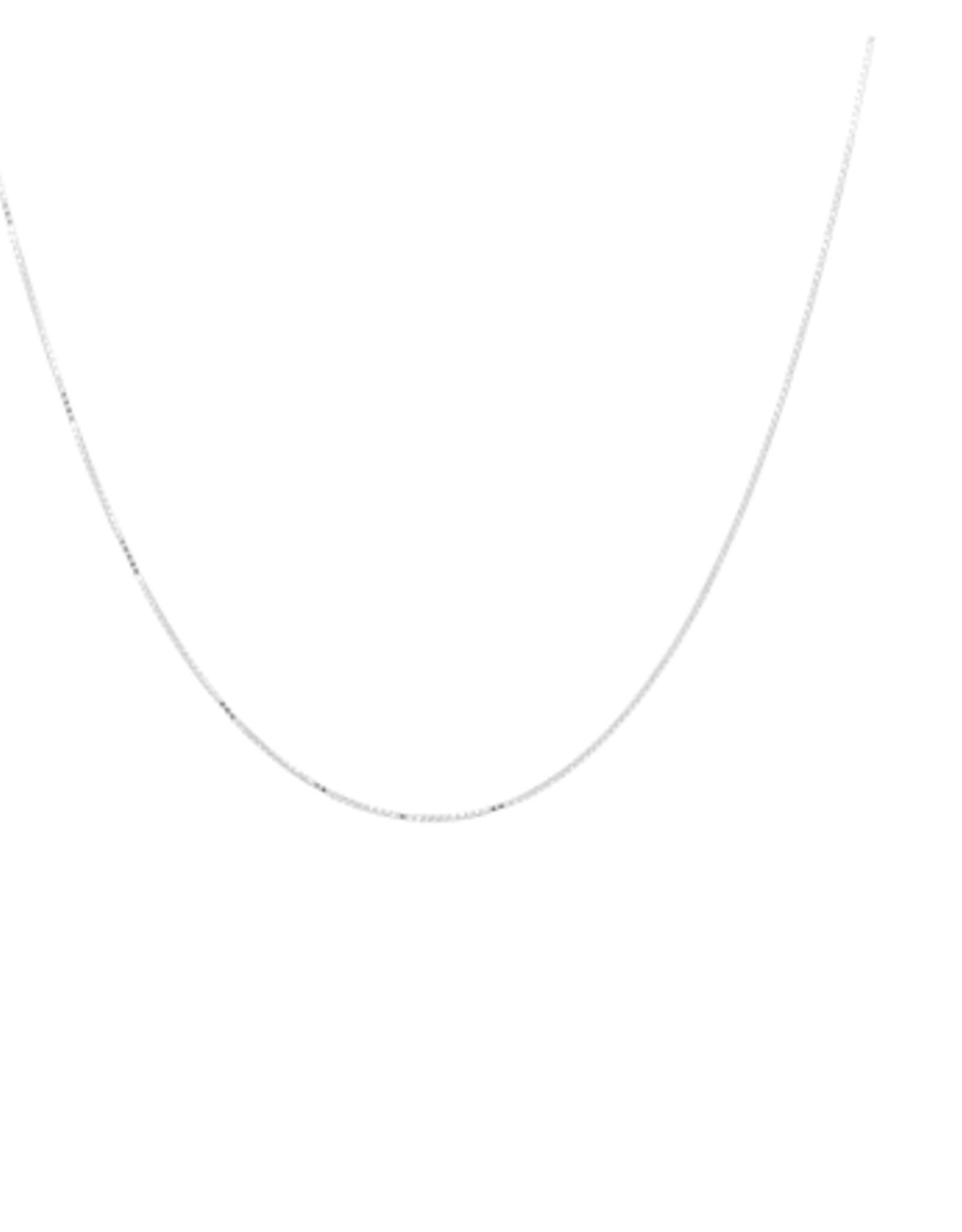 Anna + Nina Anna + Nina square plain necklace short silver