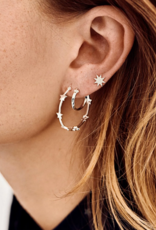 Anna + Nina Anna + Nina dazzling ring earrings silver