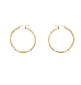 Anna + Nina Anna + Nina Dazzling hoop earrings