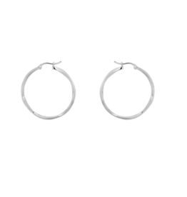 Anna + Nina Anna + Nina Dazzling hoop earrings silver
