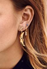 Anna + Nina Anna + Nina single zirconia string ring earring gold