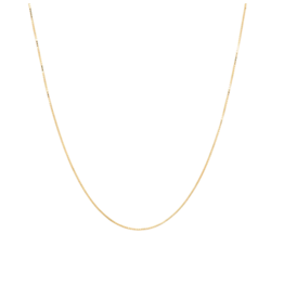 Anna + Nina Anna + Nina square plain necklace long gold