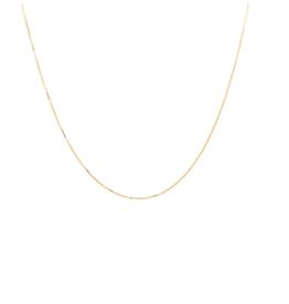 Anna + Nina Anna+Nina square plain necklace short gold