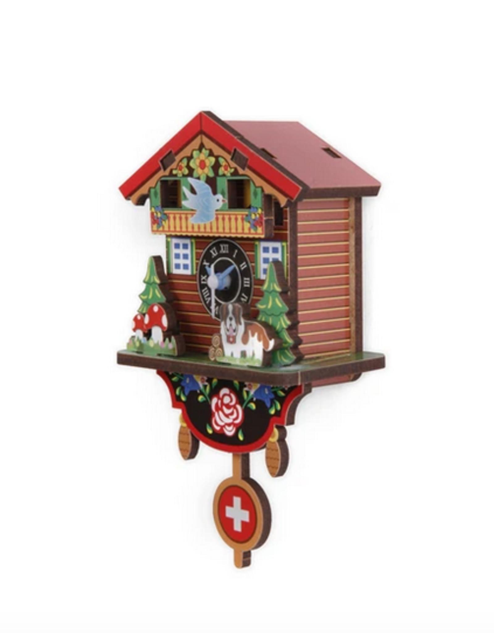 Kikkerland DIY swiss house clock
