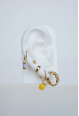 Wildthings Collectables Lilac dream earring gold