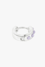 Wildthings Collectables Lilac cloud huggie silver