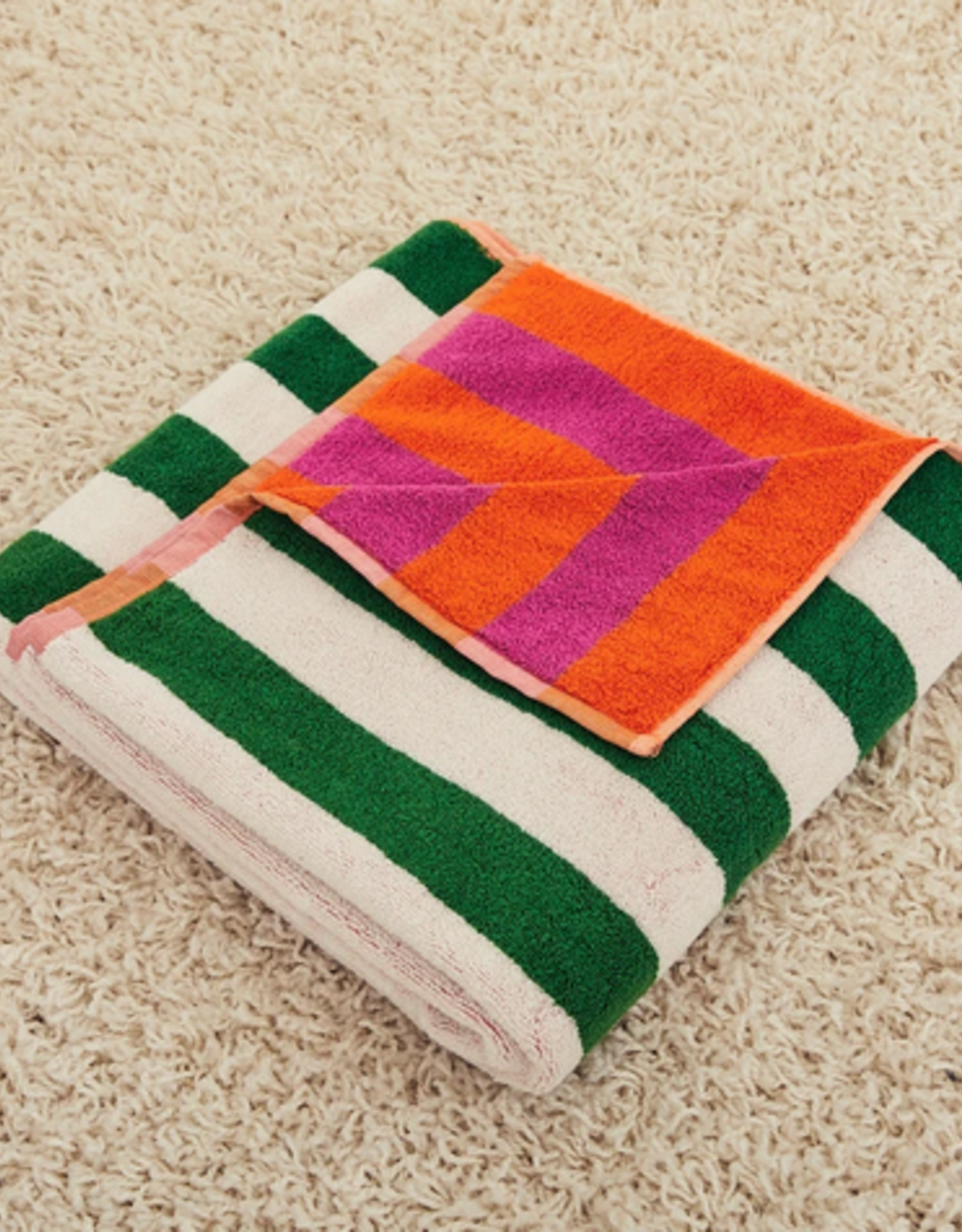 Dusen dusen Dusen dusen Bath Towel Warm stripe 2