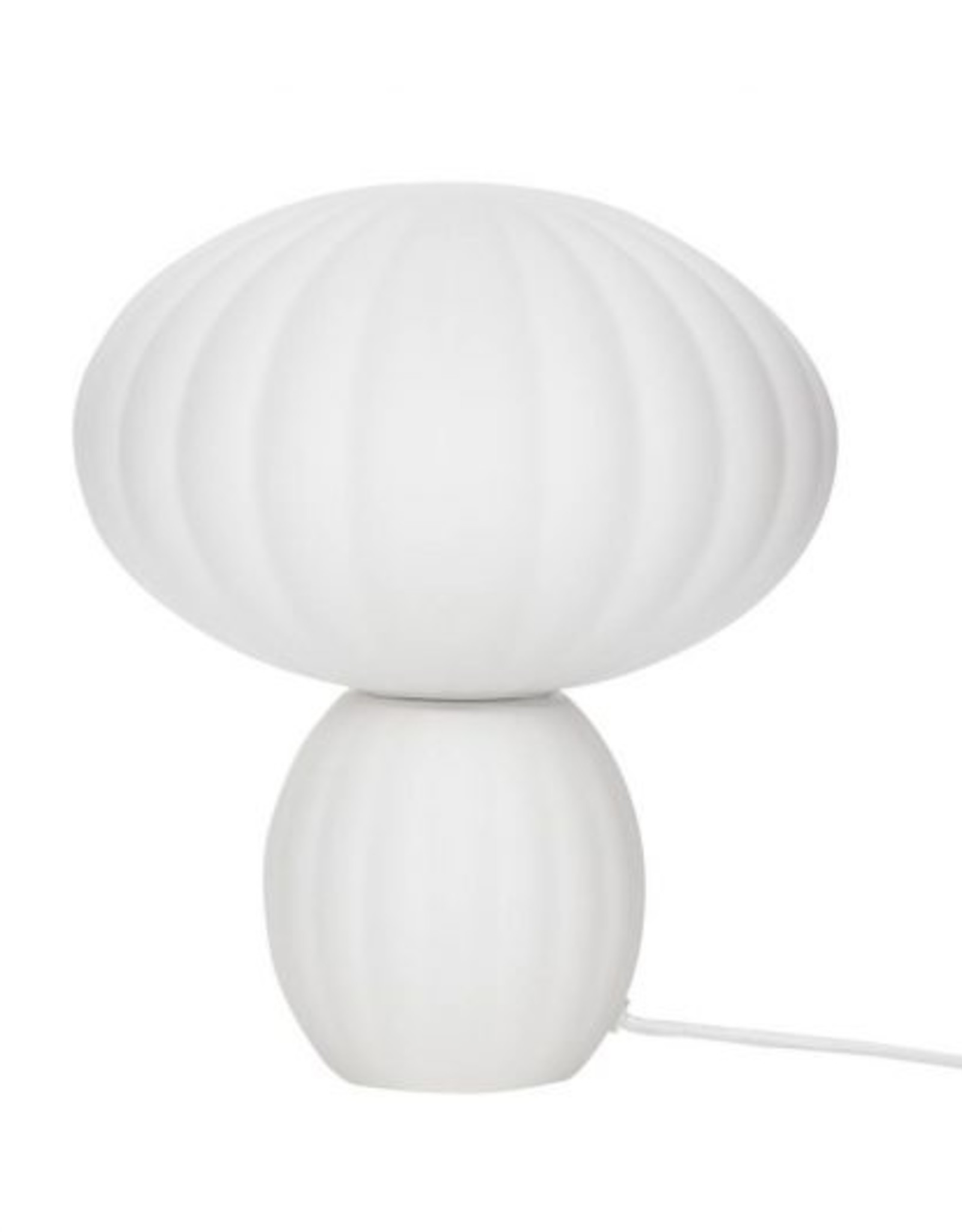 Hübsch Table lamp glass opal