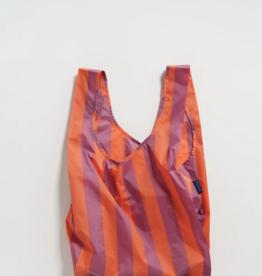 Baggu Reusable Bag Stripe Orange Mauve