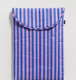 Baggu Puffy laptop sleeve stripe pink blue 16 inch