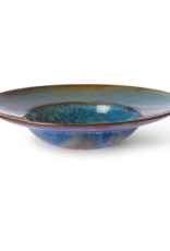 HK Living Chef's ceramics pasta plate rustic blue
