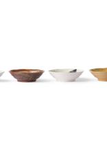 HK Living Kyoto ceramics japanese shallow bowl (set of 4)