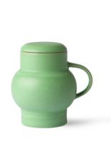 HK Living Ceramic bubble tea mug L green