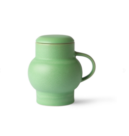 HK Living Ceramic bubble tea mug L green