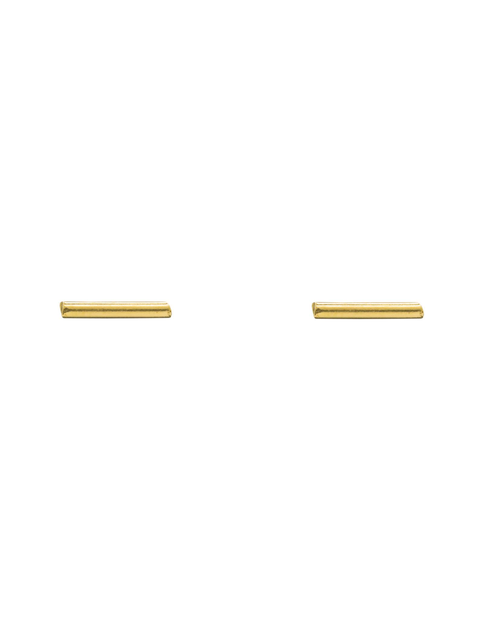 Flawed Bar earring studs gold
