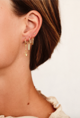 Flawed Flawed Hanging Rose Hoop Gold (sold by piece)