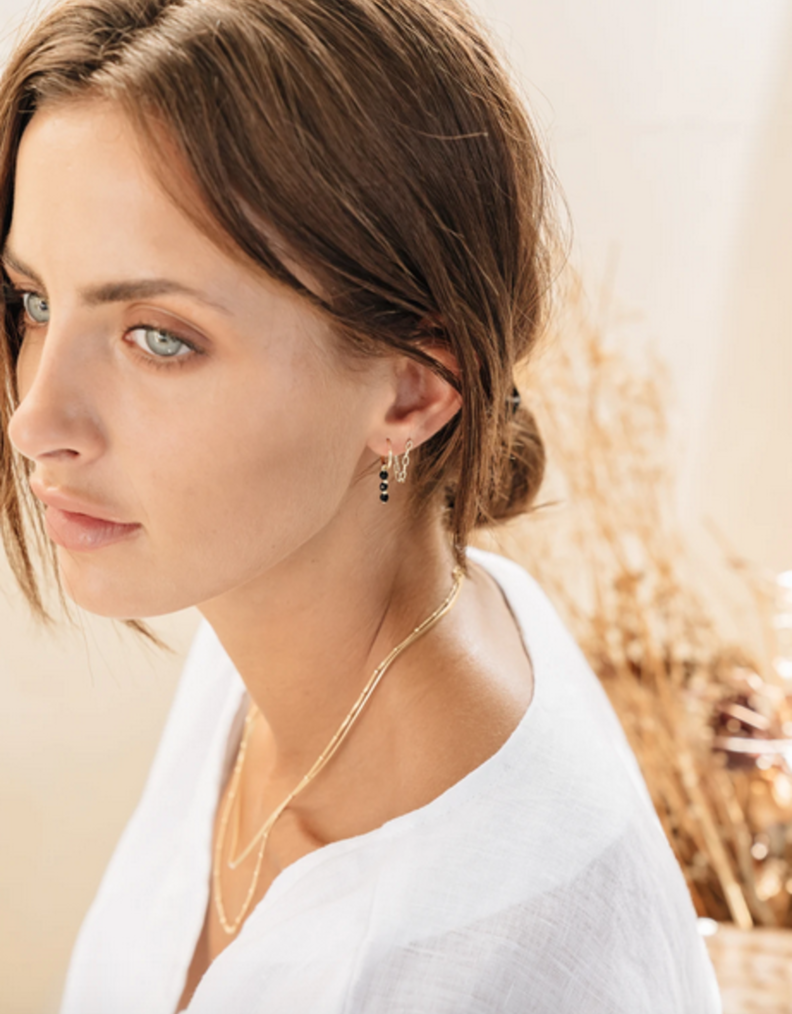 Flawed Flawed Hanging Chain Studs Silver