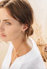 Flawed Flawed Hanging Chain Studs Gold