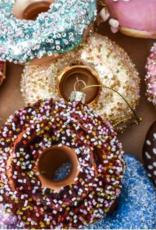 Vondels Brown donut christmas ornament