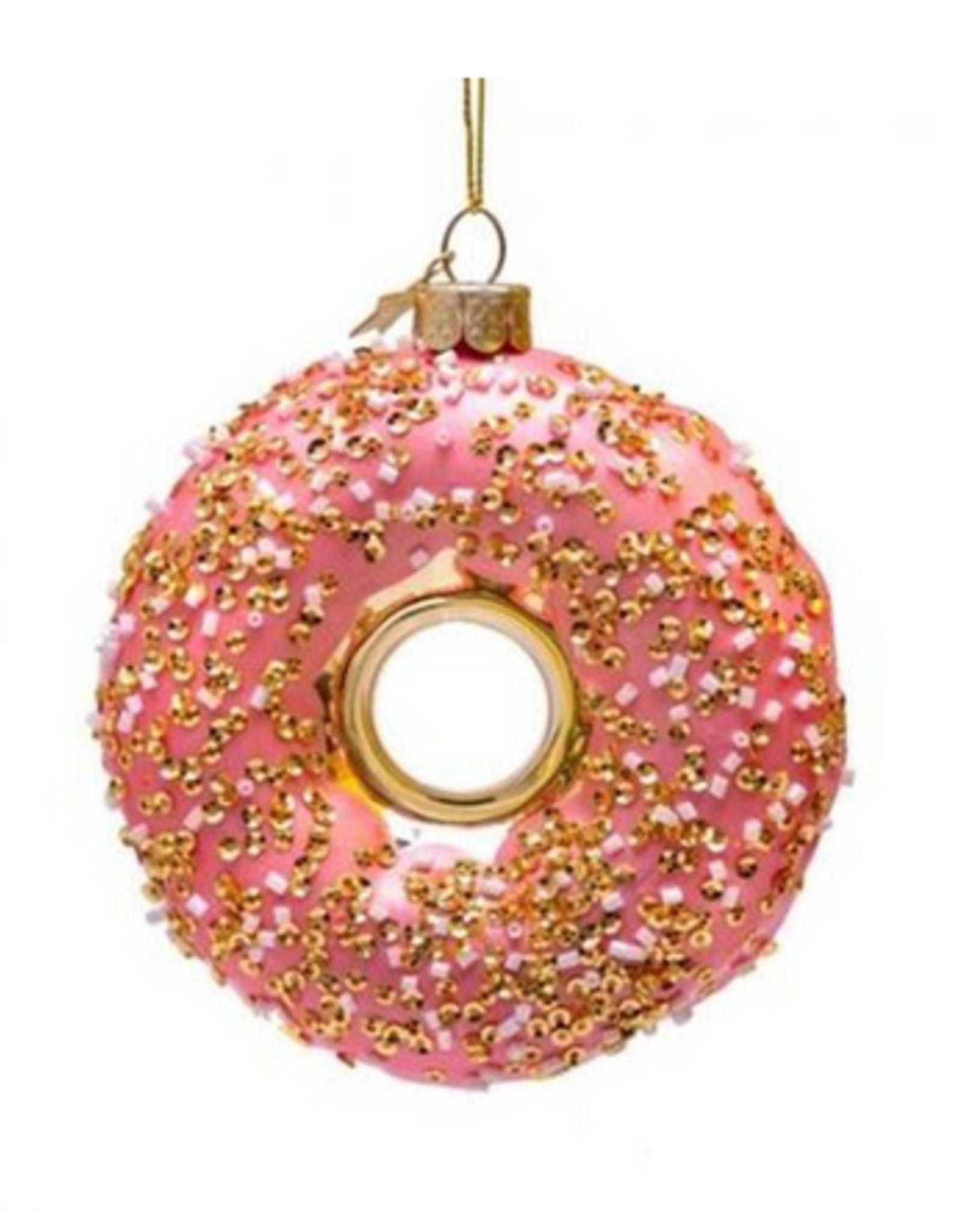 Vondels Pink donut christmas ornament