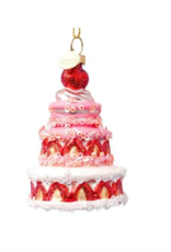 Vondels Strawberry cake christmas ornament