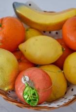 Vondels Yellow lemon christmas ornament