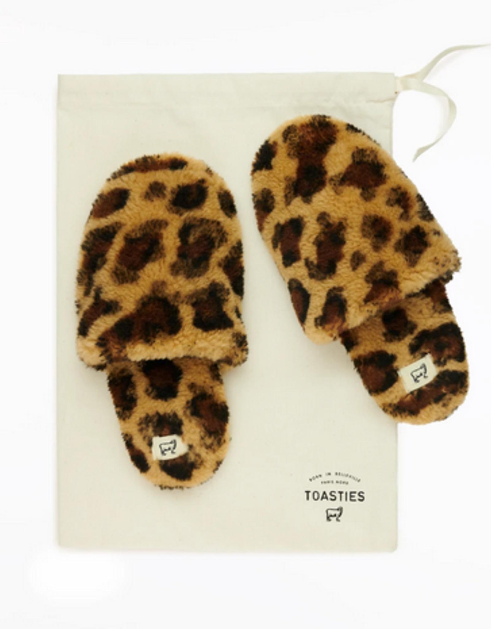 Toasties Hotel slippers leopard medium