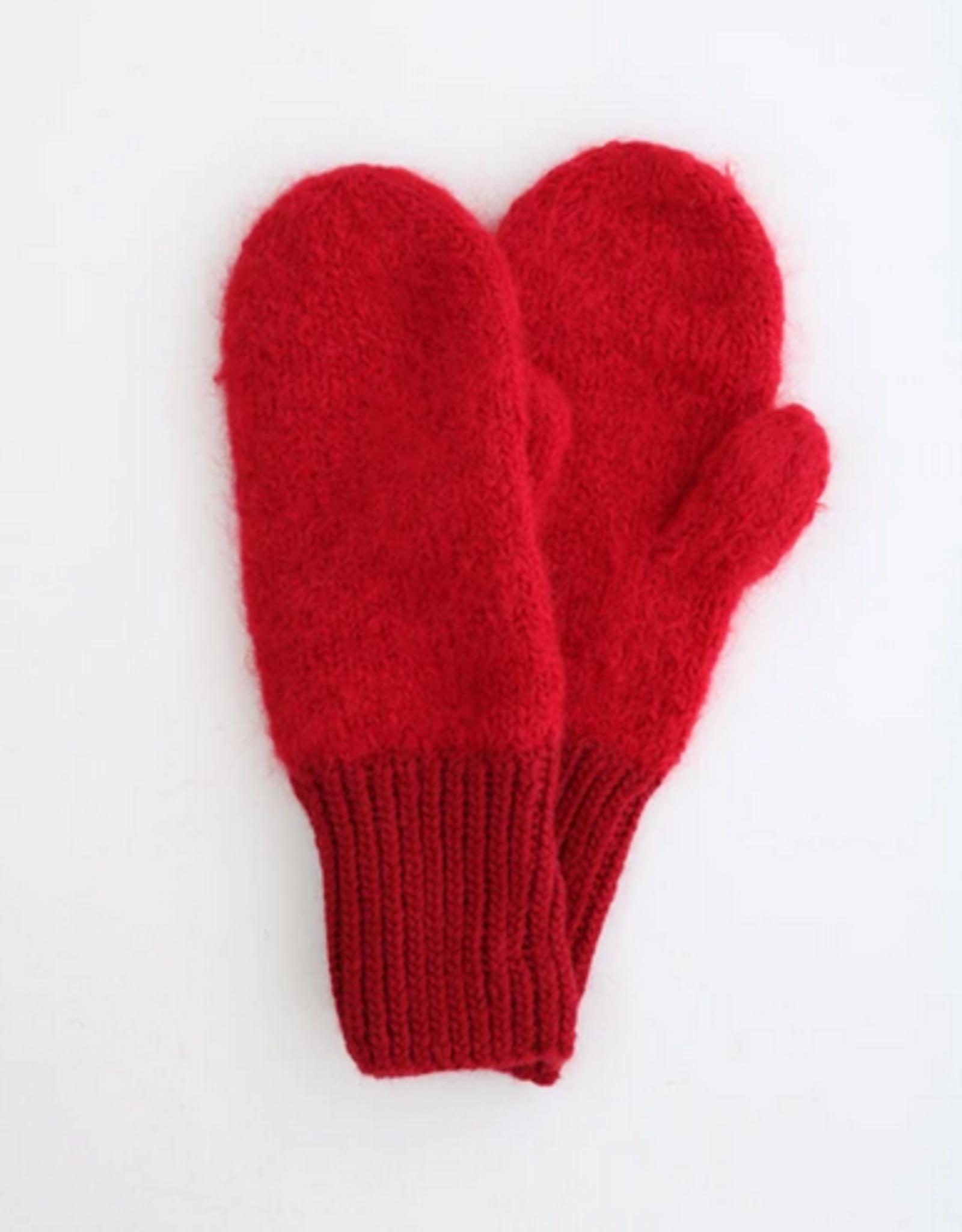 Karakoram Knitted gloves red