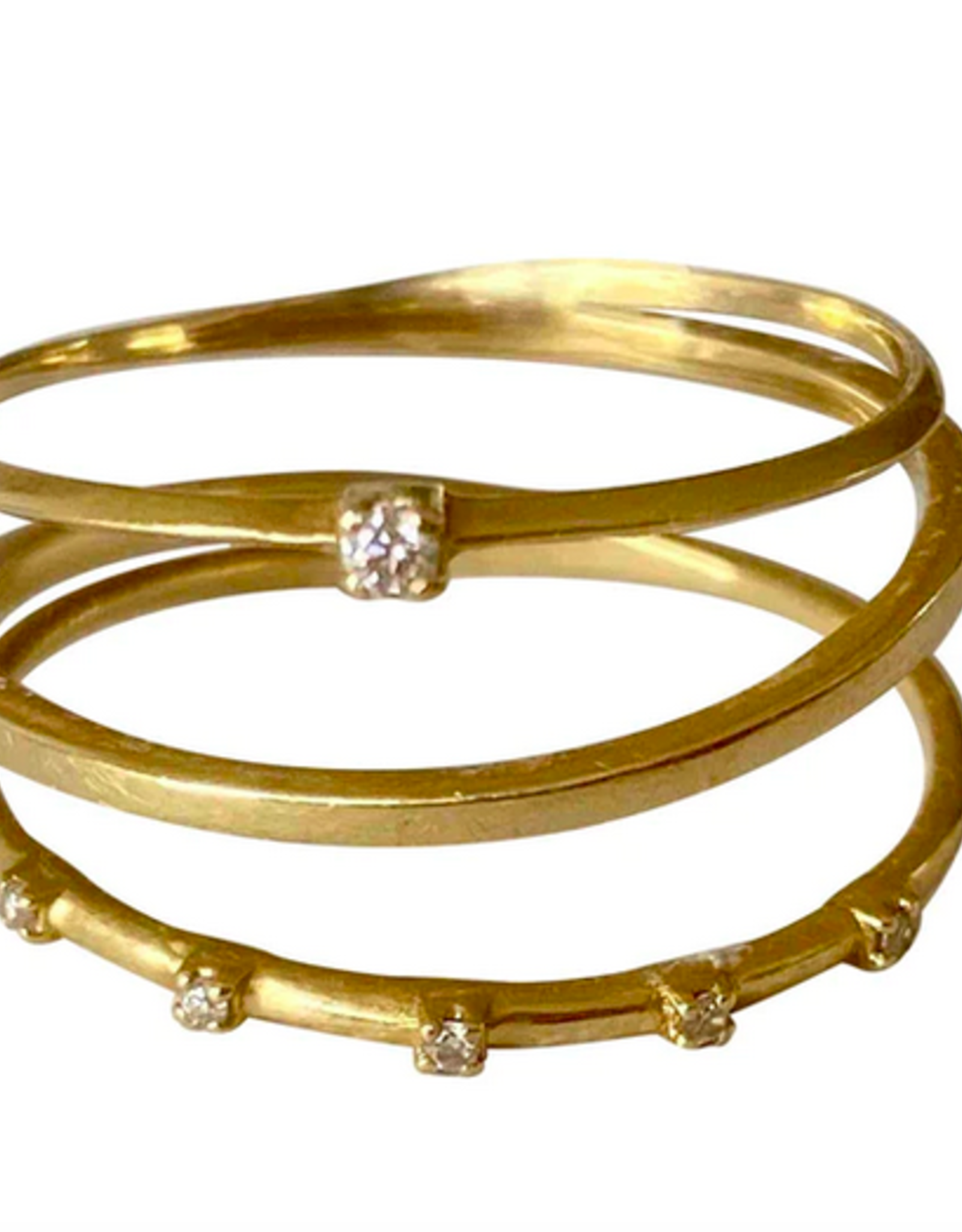 Sansoeurs Sansoeurs Ring Triple Spring Diamond Yellow Gold