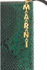 Marni Marni Pochette green snake