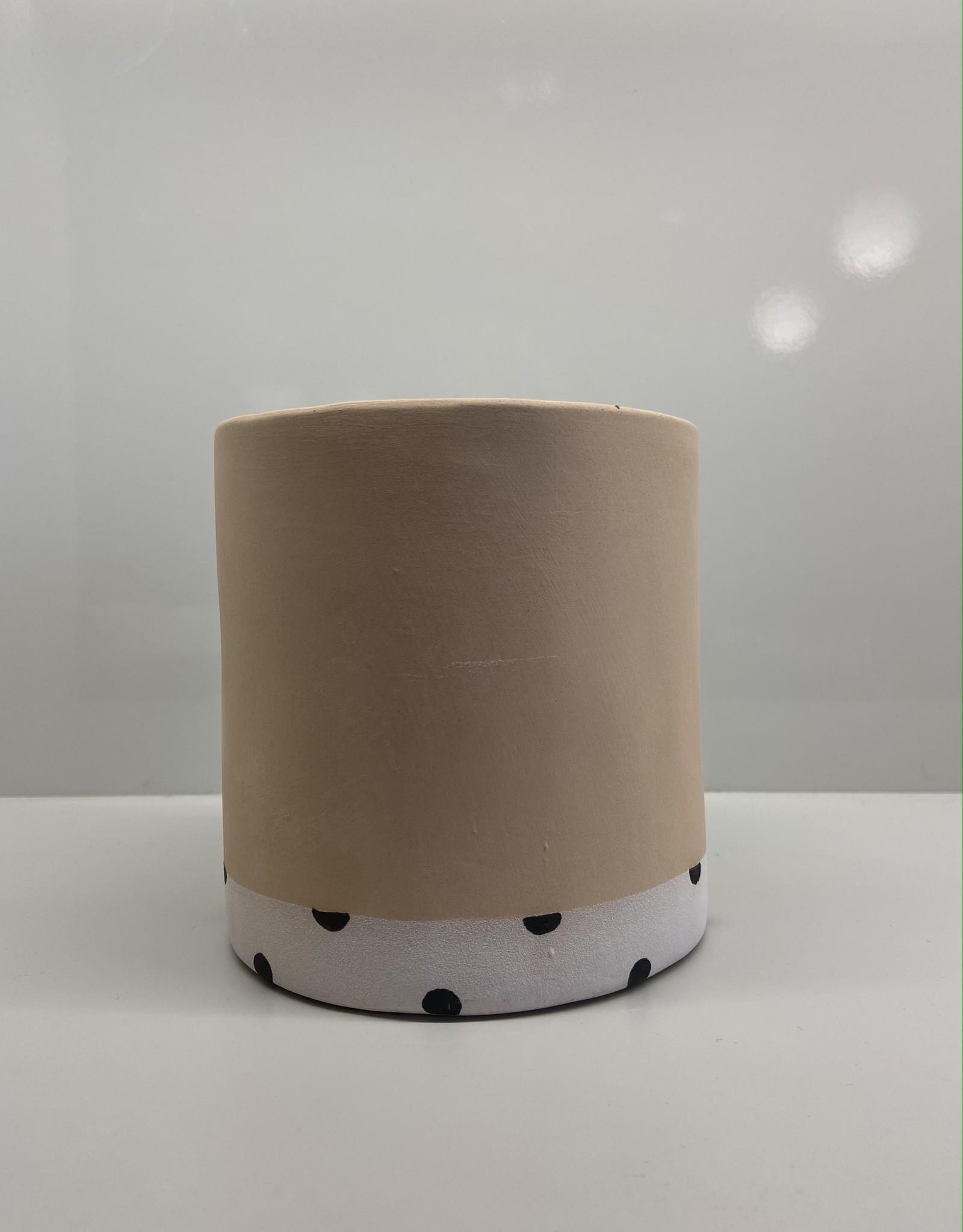 Group Partner Polka Dot light nudie flower pot