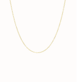 Flawed Oval Necklace Gold