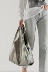 Baggu Reusable bag pewter metallic