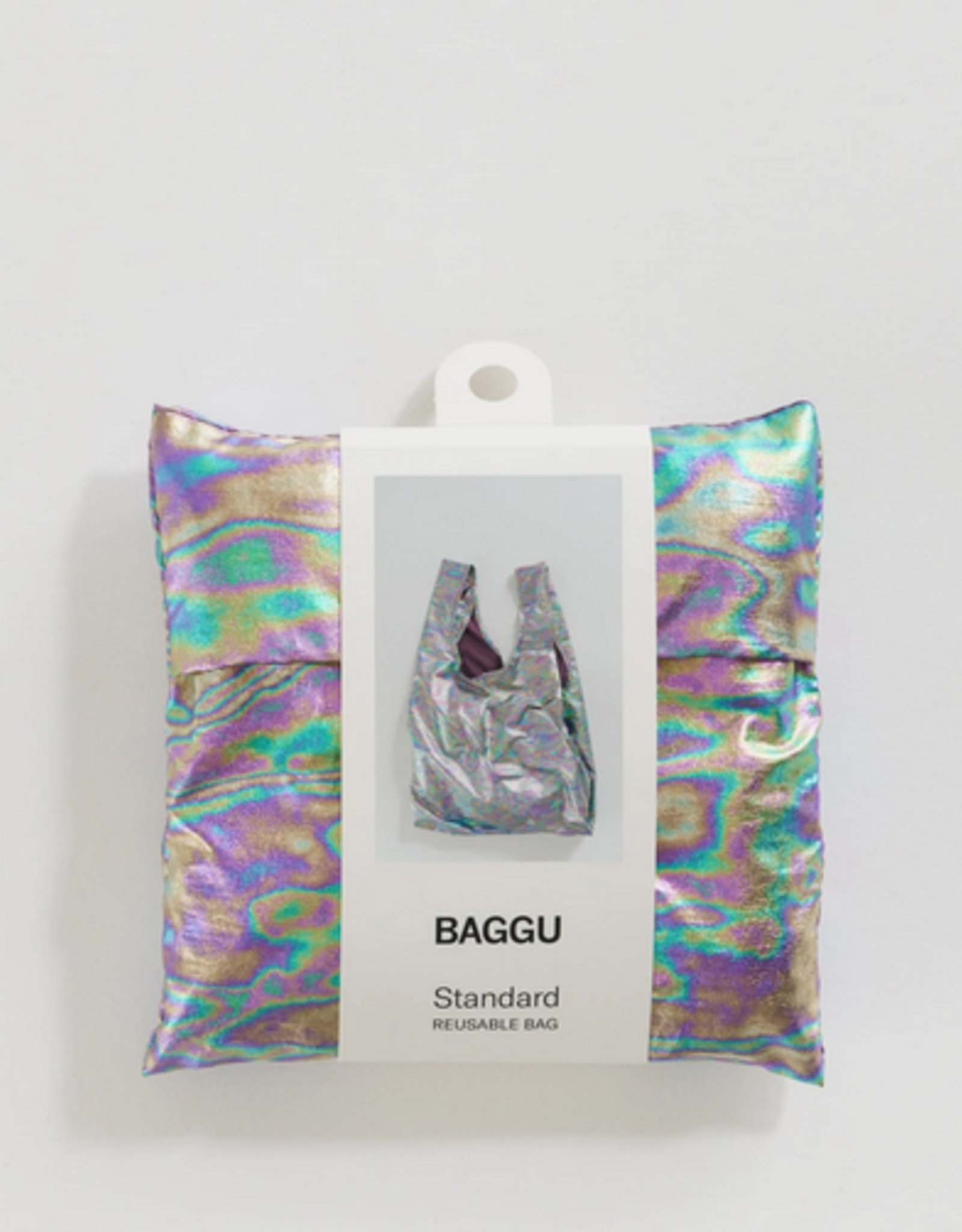 Baggu Reusable bag rainbow metallic standard