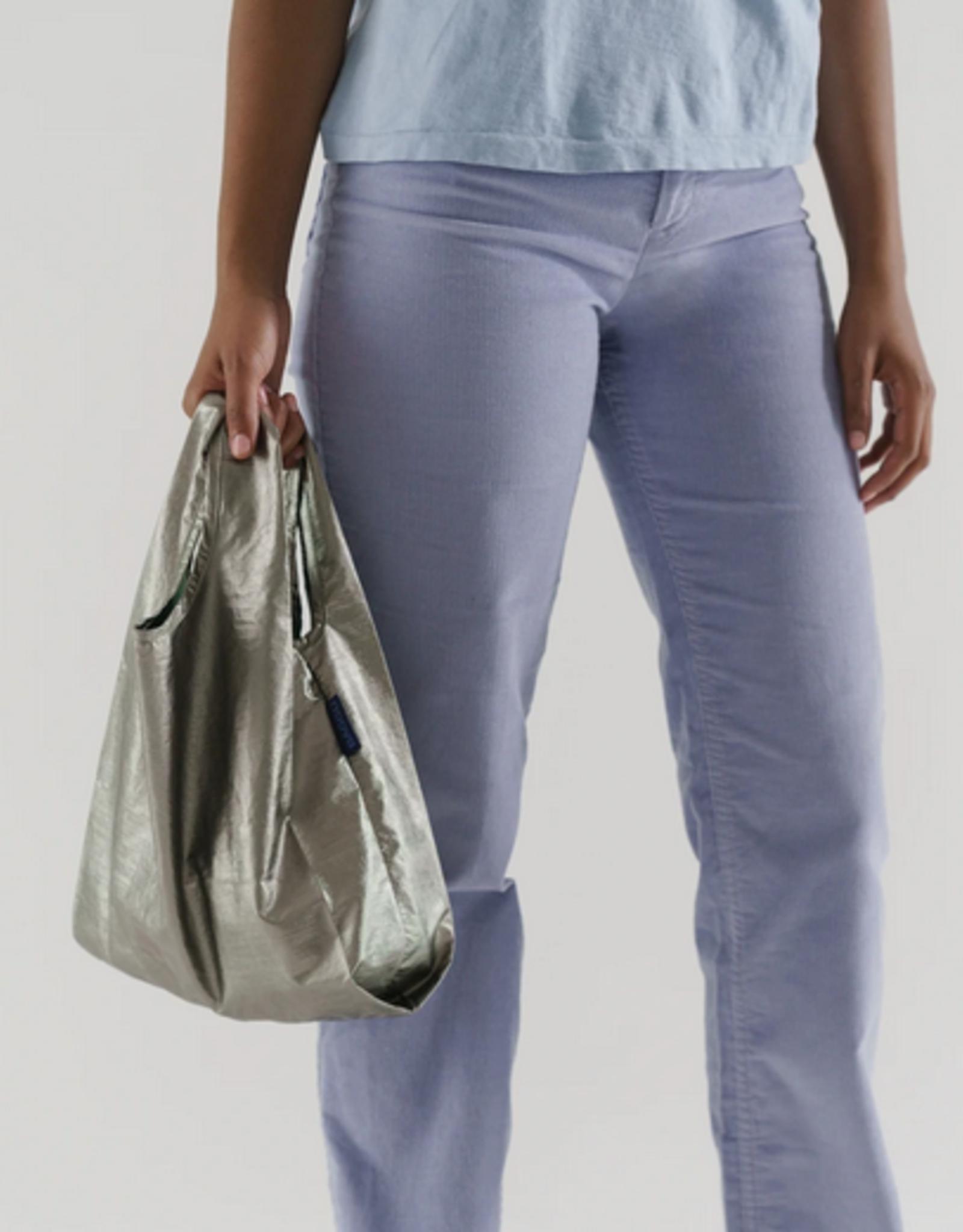 Baggu Baby reusable bag pewter metallic