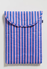 Baggu Puffy laptop sleeve stripe pink and blue 16 inch